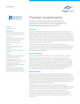 Pioneer Investments Case Study