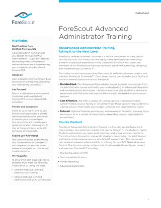 FSAA Training Datasheet