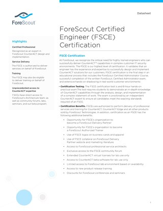 FSCE Training Datasheet