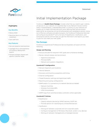 Initial Implementation Package Datasheet
