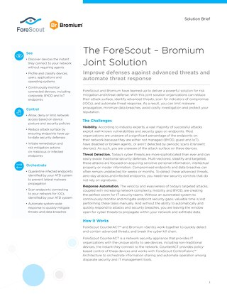 Bromium and ForeScout Joint Solution Brief
