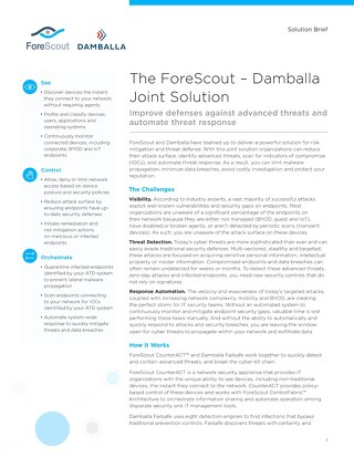 Damballa and ForeScout Joint Solution Brief