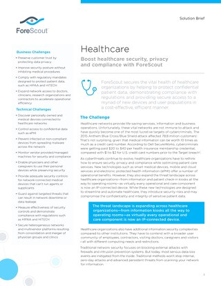 Healthcare Solution Brief