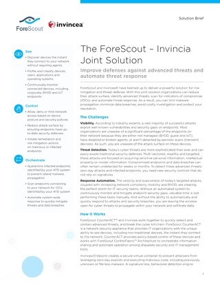 Invincia and ForeScout Joint Solution Brief