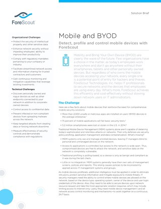 Mobile an BYOD Solution Brief