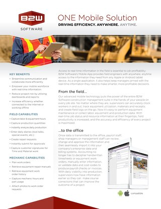 B2W Mobile Hotsheet - Construction Management App