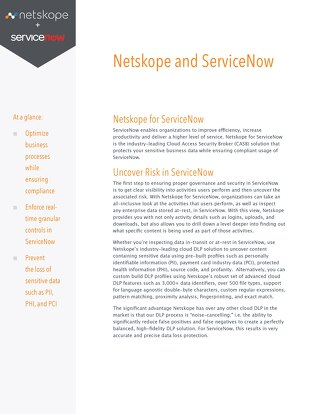 Netskope for ServiceNow