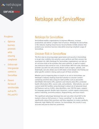 Netskope for ServiceNow