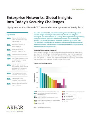 Enterprise Networks: Global Insights into Today's Security Challenges