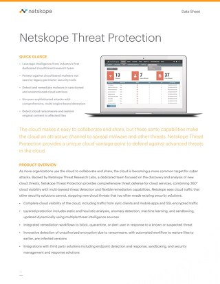 Netskope Active Threat Protection™