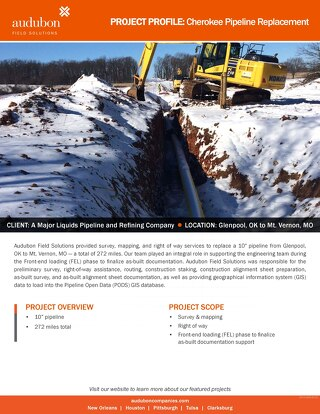Cherokee Pipeline Replacement