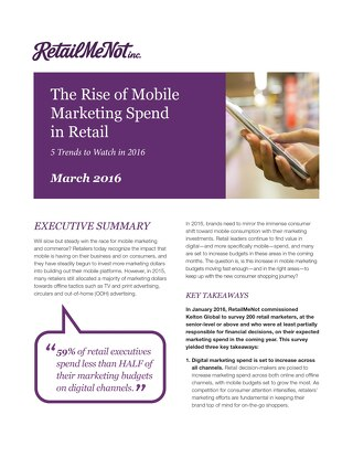 The Rise of Mobile Marketing Spend in Retail