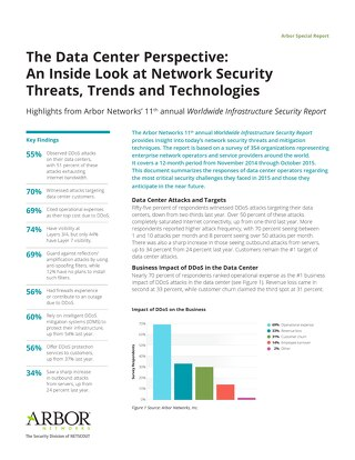 The Data Center Perspective: An Inside Look at Network Security Threats, Trends and Technologies