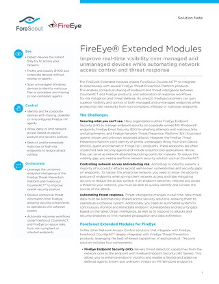 FireEye Extended Modules: ForeScout-Joint-Solution-Note