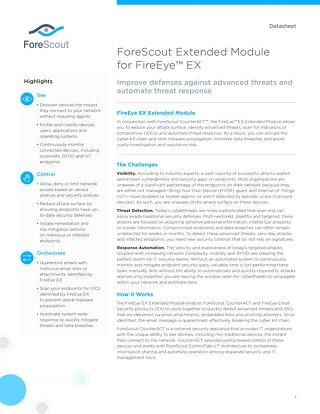 FireEye EX Extended Module ForeScout-Datasheet