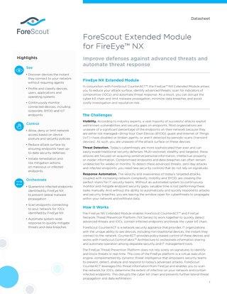 FireEye NX Extended Module ForeScout Datasheet