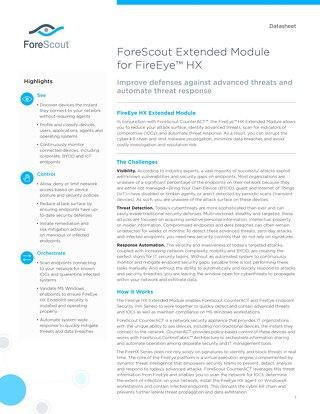 FireEye HX Extended Module ForeScout Datasheet
