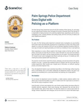 Palm Springs Case Study