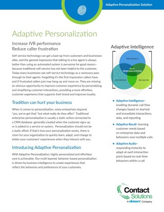 Adaptive Personalization Overview