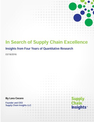 In Search of Supply Chain Excellence: Insights from Quantitative Research