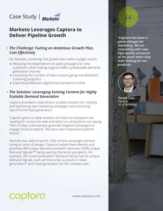 Marketo Leverages Captora to Deliver Pipeline Growth