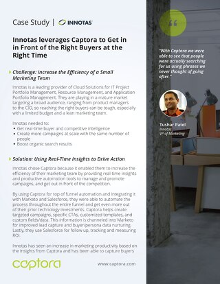 Innotas leverages Captora to Get in in Front of the Right Buyers at the Right Time