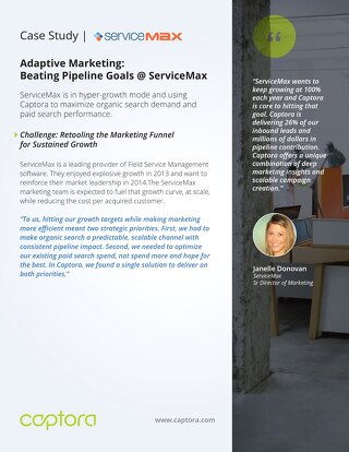 ServiceMax leverages Captora to beat goals and improve conversion rates by over 300%
