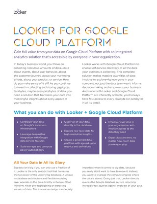 Looker for Google Cloud Platform