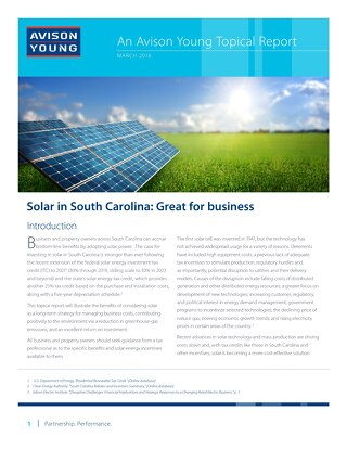 Avison Young Topical Report: Solar in South California (March 2016)