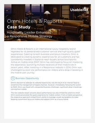 Omni Hotels and Resorts Case Study