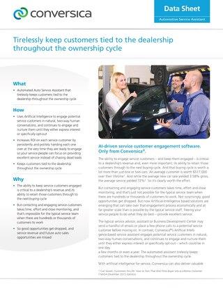 Automotive Service Assistant - datasheet