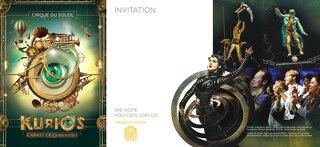 Invitation for Kurios