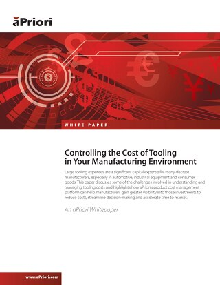 Controlling the Cost of Tooling in Your Manufacturing Environment
