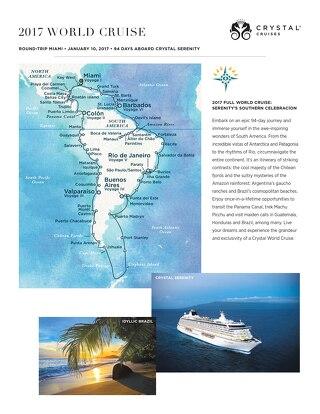 Crystal's 2017 World Cruise - Southern Celebracion (Round-Trip Miami)