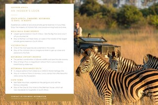 Bespoke Experiences - Southern Africa (Sample Itinerary)