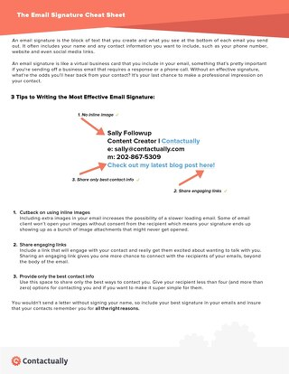 Effective Email Signature Cheat Sheet