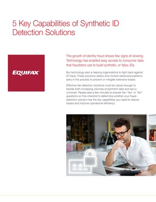 Five Key Capabilities of Synthetic ID Detection Solutions