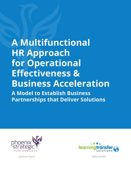 HR Approach for Operational Effectiveness & Business Acceleration