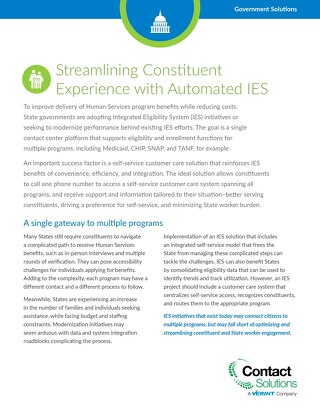 Streamlining Constituent Experience with Automated IES