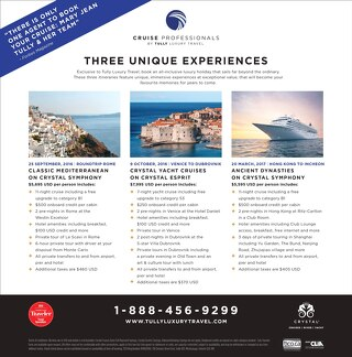 Three Unique Experiences with Crystal Cruises