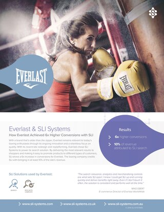 Everlast: 6x higher conversions