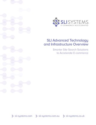 SLI Advanced Technology and Infrastructure Overview