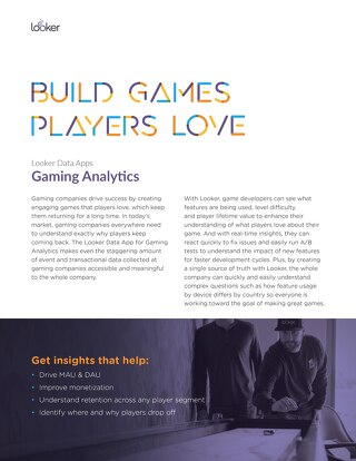 Looker Data Apps: Gaming Analytics