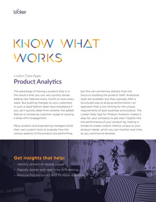 Looker Data Apps: Product Analytics