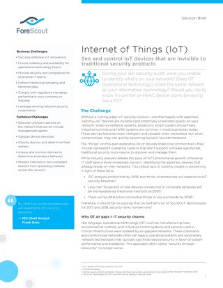 Internet of Things Solution Brief