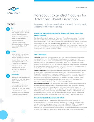 Advanced Threat Detection Solution Brief