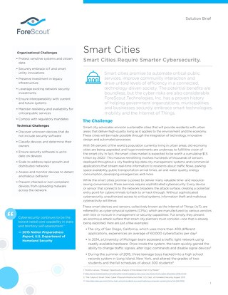 Smart Cities ForeScout Solution Brief