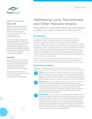 Ransomware Solution Brief