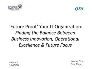 'Future Proof' Your IT Organization