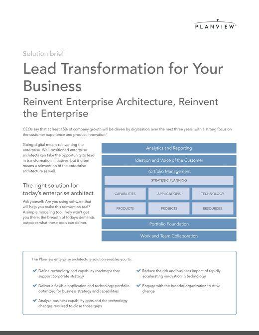 Planview Solution for Enterprise Architecture